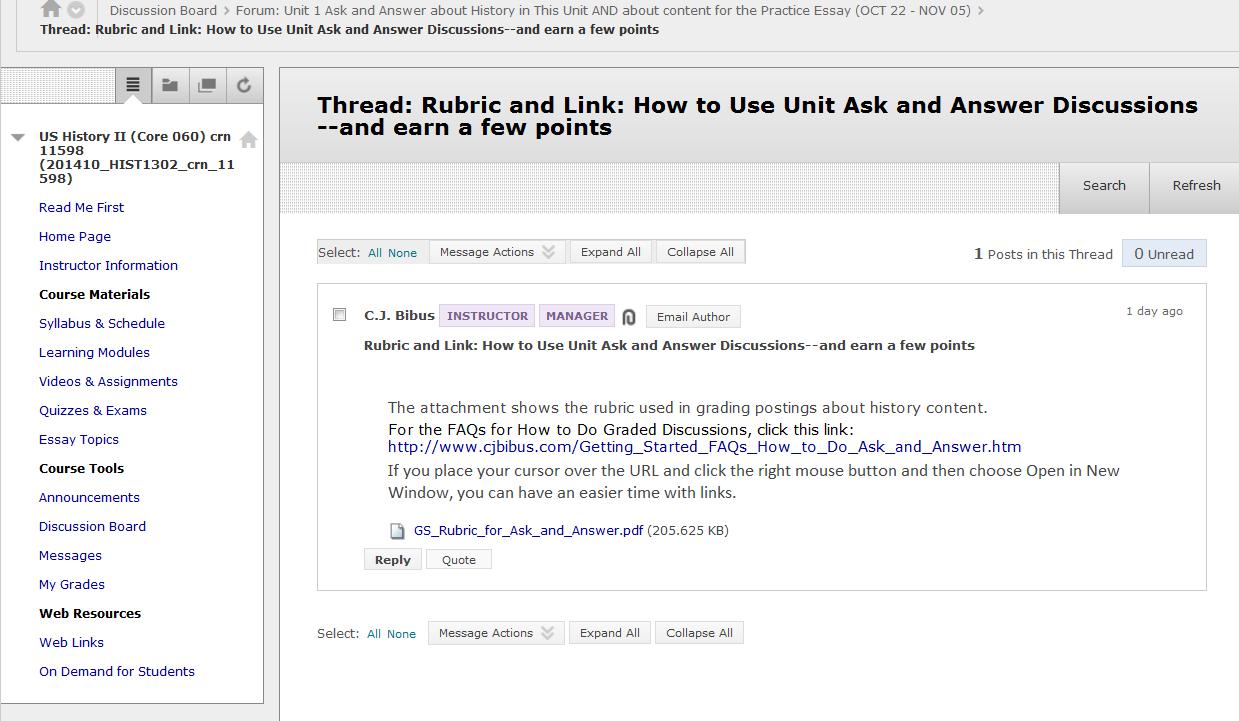 discussion board forum essay